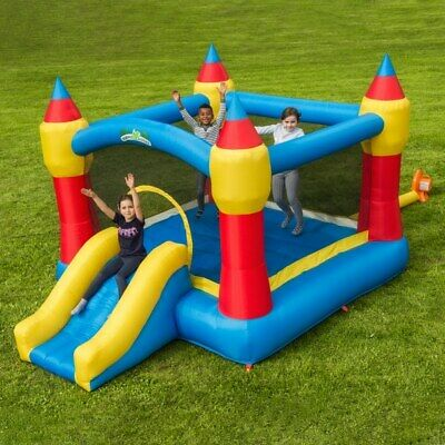 Kids Happy Hop Bouncy Castle With Slide 8.7 X 6.5 Feet Delivery Possible • 75£