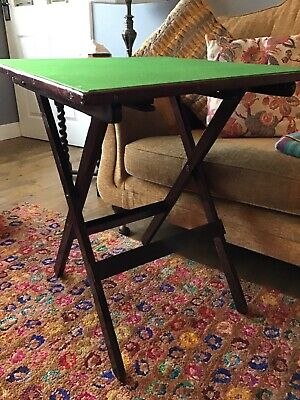 Vintage Felt Green Topped Card Table Folding Wooden Quality Heavy Duty  • 29.99£