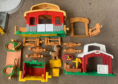 Large Fisher Price Little People Farm Yard Barn Bundle Sounds • 3£