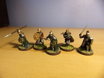 Games Workshop LOTR Theoden,Grimbold And Rohan Royal Guard (x3) On Foot Metal • 20£