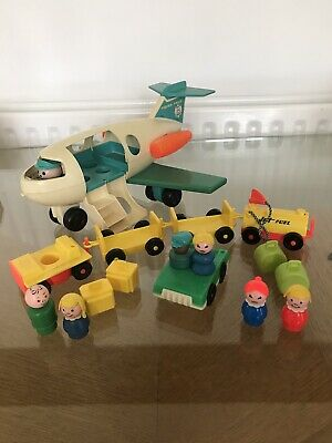 Vintage Fisher Price Little People Jet Plane And Accessorie Bundle • 9.50£