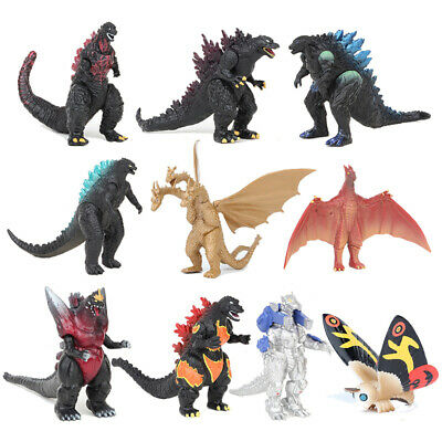 10Pcs Godzilla 2 King Of The Monsters Ghidorah Mothra Action Figure Model Toys • 9.88£