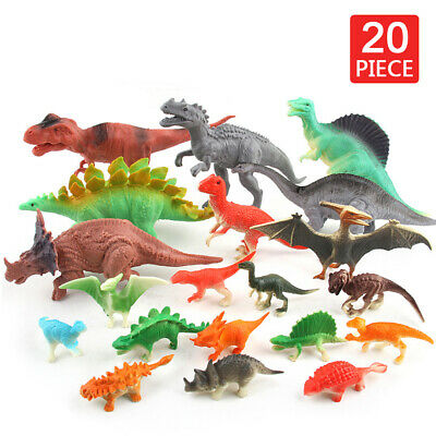 20Pcs Dinosaur Playset Animals Action Figures Set T Rex Triceratops Toy For Kids • 8.54£