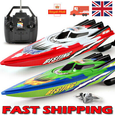 Twin Engine Rechargeable Rc Radio Remote Control Boat Twin Motor - High Speed • 12.99£