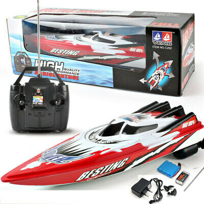 Remote Control Twin Motor High Speed Boat RC Racing Outdoor Toys With Radio • 12.99£