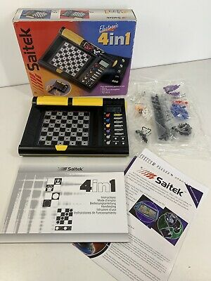 Saitek Electronic 4 In 1 Games Vintage 1999 Chess Checkers Line Of 4 Top Mind • 29.74£