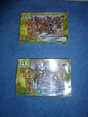 Italeri 1/72 WW2 Series No 6056 & 6034 British Infantry And Paratroopers - New • 8£