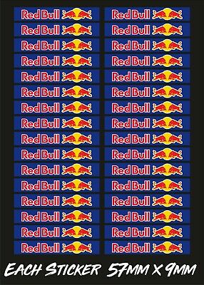 Red Bull Racing Slot Car Scalextric Small Model Barrier Vinyl Stickers X32 • 3.95£