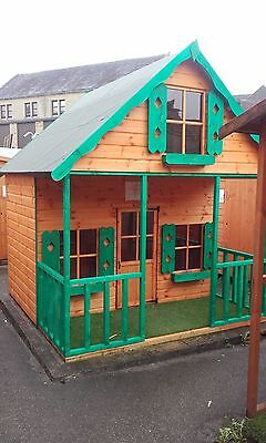 Childrens 10x8 Grand Chateau 3 Storey Wooden Playhouse Outdoor T&G Kids Den  • 1,260£