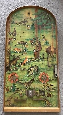 Vintage Bagatelle Game Pinball Animals Forest Theme Rare • 70£