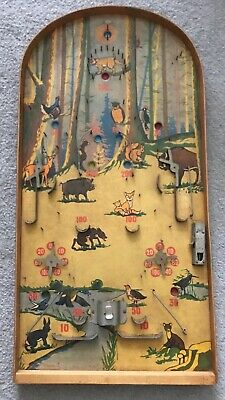Vintage Pinball Bagatelle Game Animals/Forest Rare • 70£