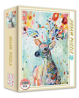 1000 Pieces Animal Elk Jigsaw Puzzle Educational Family Adult Kids DIY Game Toy • 9.99£