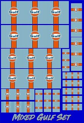 Gulf Racing Mixed Scalextric Sticker Set  Barrier Track Building - 17 Decals • 3.95£