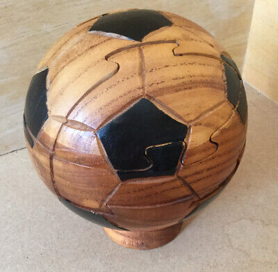 Wooden 3D FootBall Puzzle. Brain Teaser.  • 8.99£