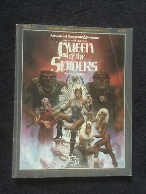 AD&D Queen Of The Spiders Module GDQ 1-7 Advanced Dungeons & Dragons • 150£