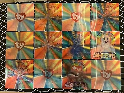 TY Beanie Babies Series 4 Lenticular Cards - Set Of All 12 • 29.99£