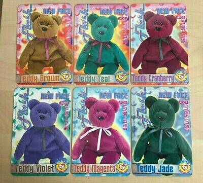 TY Beanie Babies Series 3 Tear-A-Bear Cards - Set Of 6 - Unopened • 19.99£