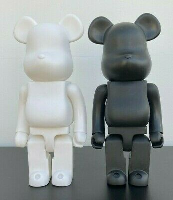 Bearbrick 400% 28CM Toy / Ornament UK Seller ( White & Black ) NEW • 28.99£