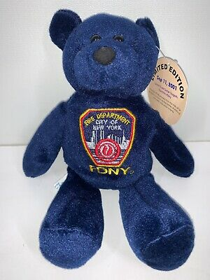 Wonder Land FDNY Fire Dept New York Sept 11th 2001 Beanie Limited Edition TAGGED • 29.99£