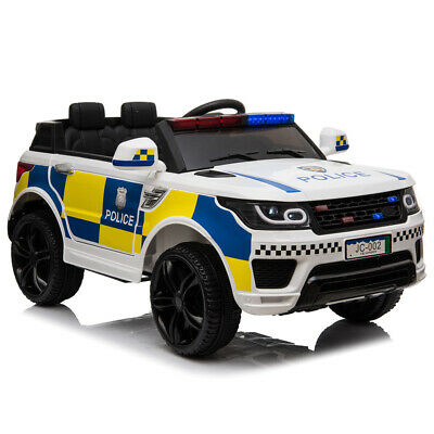 Kids Electric Ride On 12V Police SUV Car With Parental Remote Control Flashing • 129.99£