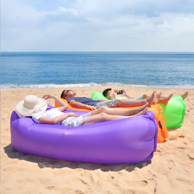 Air Bed Sofa Outdoor Fast Inflatable Sofa Lunch Break Lazy Portable Beach Swim • 16.49£