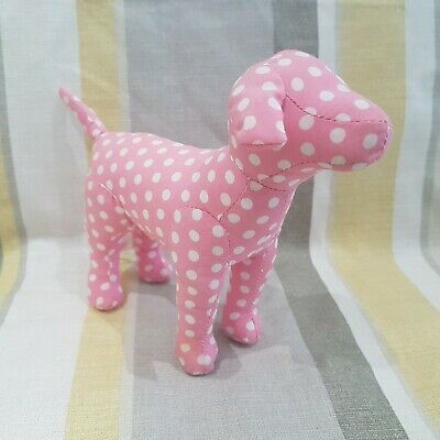Pink Polka Dot Spotted Dog 15cm Beanie Plush By Victoria Secrets Rare Vhtf AP • 28.49£