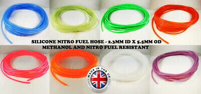 Nitro - Rc Glow Engine - Silicone Fuel Pipe Line Tube Hose - **8 Colours** • 2.99£