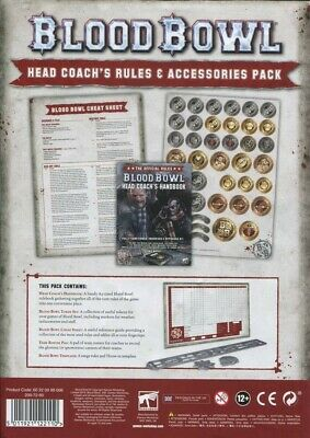 Blood Bowl: Head Coach's Rules & Accessories Pack Games Workshop New 60220999006 • 22.50£