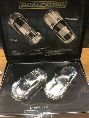 Scalextric *NEW* C3169A Chromed Bugatti & SLR Mclaren  Ltd Ed MIB  • 65£