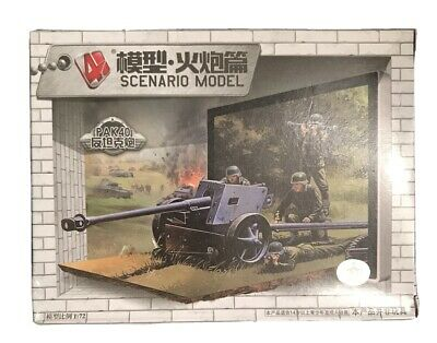SCENARIO 1/72 Scale Model Kit GERMAN ANTI-TANK GUN PAK-40 With Crew NEW & SEALED • 3.99£