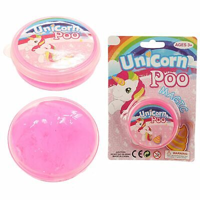 4 X Unicorn Poo Slime, Pocket Money/stocking Filler Free P&p • 3.99£