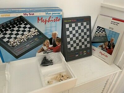 Mephisto My First Electronic Tabletop Chess Board. Boxed. Tested. Vintage • 49.99£