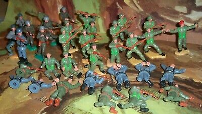 Large Lot Of Timpo Toys World War II Soldiers With British, American, Germans • 29.75£