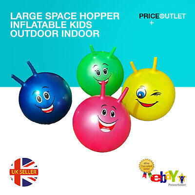 Large Space Hopper Inflatable Kids Outdoor Indoor Jumping Bounce Ball • 5.99£