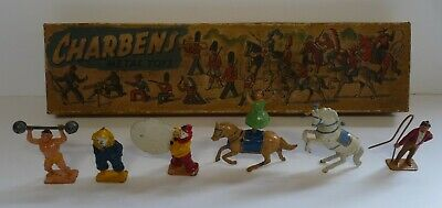 6 No Charbens Circus Characters. Lead Toys. With Box. • 299.99£