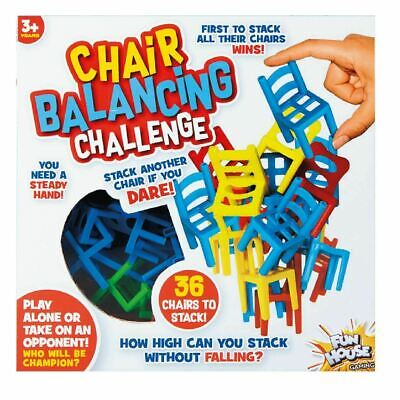 Chair Balancing Challenge Board Puzzle Game Fun Family Play Kids Childs Games • 6.99£