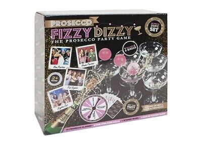 20pc Prosecco Fizzy Dizzy Party Game Drinking Ping Pong Glass Ball Xmas Fun New • 5.99£