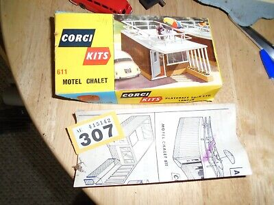 Corgi  Kits 611 Motel Chalet Box Lid Only With Instructions         Y/307 • 0.99£