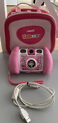 Pink Vtech Kidizoom Twist Camera With  Carry Case And Accessories • 8£