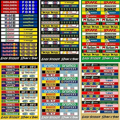 Slot Car Scalextric Small Model Racing Barrier Building Mixed Stickers X 32  • 18£