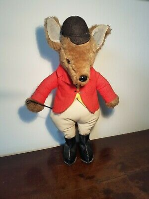 Vintage Stuffed Toy Huntsman Fox. • 15.50£