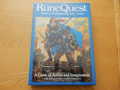 Rune Quest Fantasy Roleplaying Adventure Standard Edition Box Set NEW & SEALED • 20£