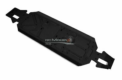 QL 5mm CNC Jet Black Main Chassis For Losi 5ive-t 1/5th Scale RC Upgrade Part • 124.99£