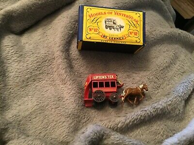 Matchbox Y 12. By Lesney .horse Bus. Liptons Tea Advert On Both Sides  Boxed. • 20£