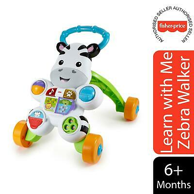 Fisher-Price Learn With Me Zebra Walker, Electronic Educational Toy • 25.99£