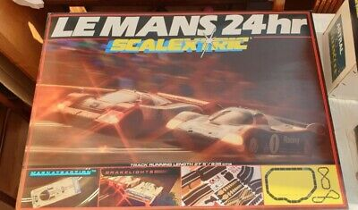 Scalextric C.742 Le Mans 24hr Racing Set  With Breaklights • 7.40£