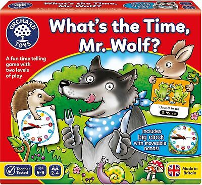 Orchard Toys WHAT'S THE TIME, MR. WOLF? Educational Game Puzzle BNIP • 9.49£