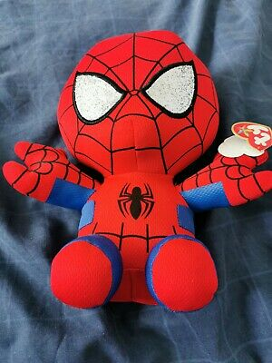 Spiderman Beanie Baby/Buddies Collection. Marvel Ty Collectors Item.  • 2.57£