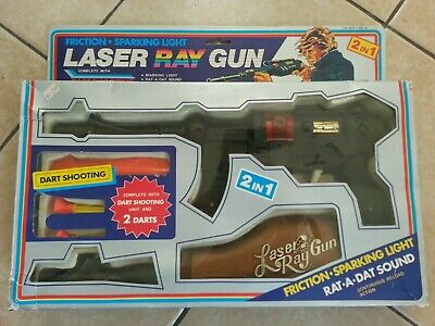 Retro Laser Ray Gun And Dart Shooting Unit - Boxed - Original 1970's-80's • 24.99£