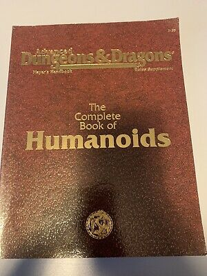 The Complete Book Of Humanoids Advanced D&D TSR • 30£